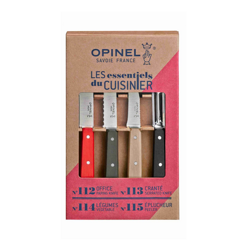 OPINEL ESSENTIAL SMALL KITCHEN KNIFE SET - LOFT COLORS