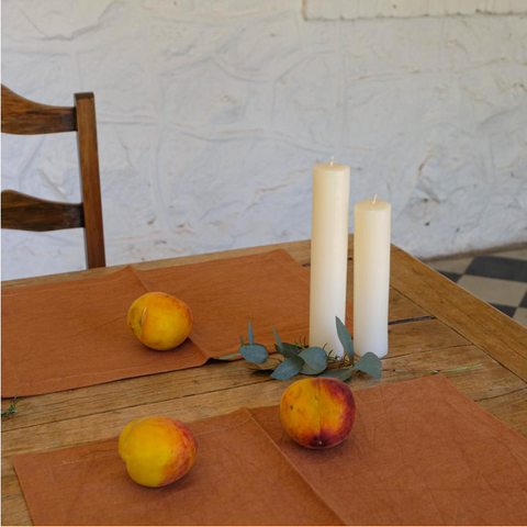 COTTON PLACEMATS SET OF 4 - CIGAR