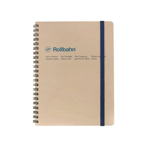 SPIRAL NOTEBOOK LARGE - GREIGE