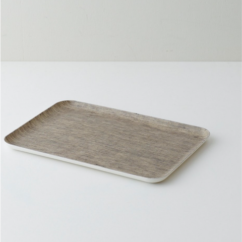 LINEN COATED TRAY MEDIUM - NATURAL