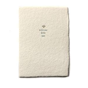 SMALL SALUTATIONS CARD - WELCOME LITTLE ONE