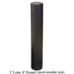 "FOAM ROLLER (FULL) BLACK (HIGH DENSITY) 6"" X 36"""