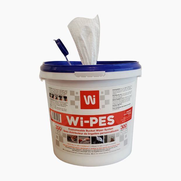 WI-PES IN A BUCKET - DRY WIPES (300 Container)