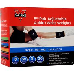 VALEO ADJUSTABLE ANKLE WEIGHTS
