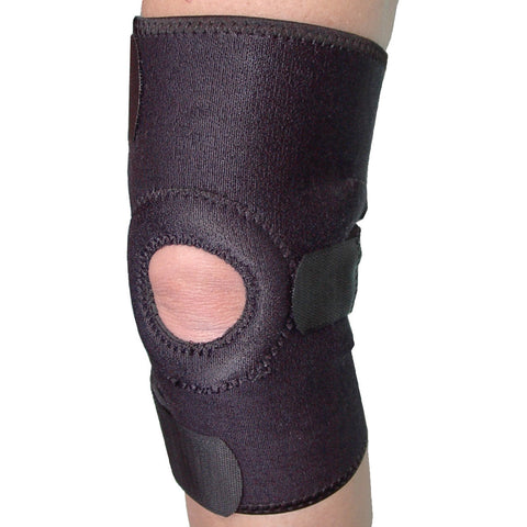 HEALTH MEDIC ESSENTIALS NEOPRENE KNEE BRACE WITH OPEN PATELLA - UNIVERSAL