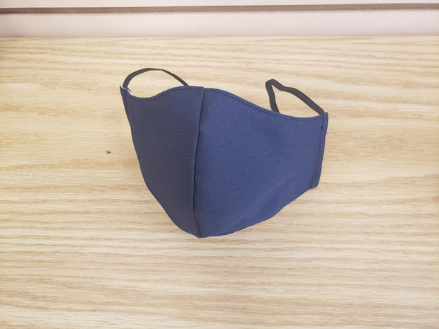 DUAL LAYER FITTED REUSABLE FACE MASK - NAVY