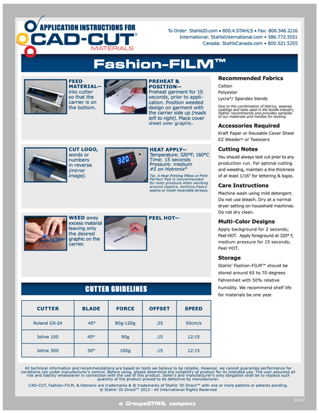 Heat Press Specifications - Fashion Film