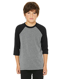 Bella Canvas Youth 3/4 Sleeve Baseball Raglan