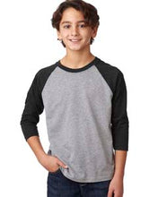 Load image into Gallery viewer, Next Level Youth CVC 3/4 Sleeve Raglan