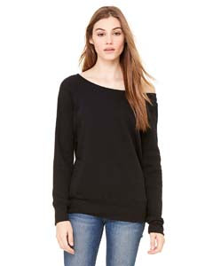 Bella Ladies Sponge Fleece Wide Neck Sweatshirt