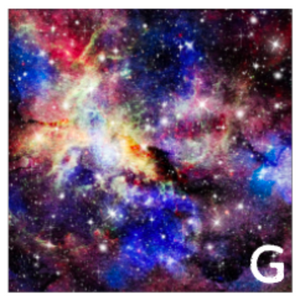 Printed HTV PINK GALAXY Heat Transfer Vinyl 12 x 12 inch sheet