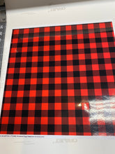 Load image into Gallery viewer, CLEARANCE Printed STATIC CLING Non Adhesive Vinyl Various Patterns 12 x 12 sheet