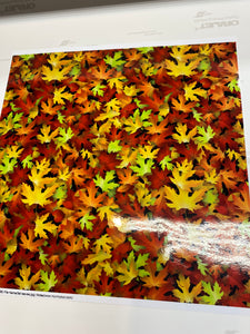 CLEARANCE Printed STATIC CLING Non Adhesive Vinyl Various Patterns 12 x 12 sheet