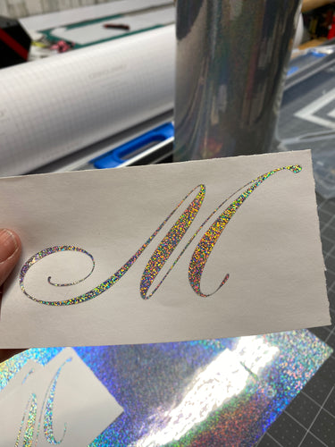 Vinyl Decal Sparkly Glitter Holographic