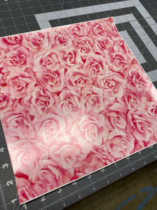 Printed Vinyl & HTV ROSES Red or Pink