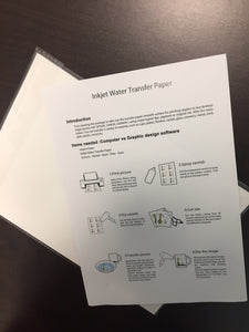 Clear Waterslide Paper for use with your home desktop inkjet printer