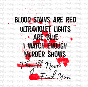 Digital Download BLOOD STAINS ARE RED PNG file