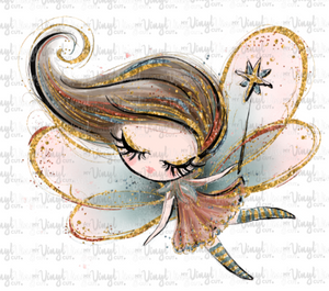 Sticker D1 Fall Fairy with eyes closed Waterproof vinyl sticker