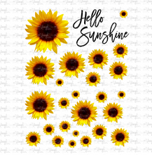 Load image into Gallery viewer, Waterslide Sheet WHOLE REALISTIC SUNFLOWERS Various Sizes