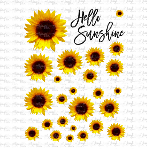 Waterslide Sheet WHOLE REALISTIC SUNFLOWERS Various Sizes