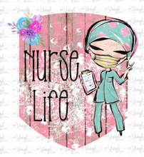 Load image into Gallery viewer, Waterslide Decal Nurse Life Pink background