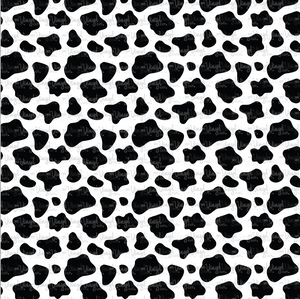 "Printed HTV Vinyl COW PRINT Pattern 12 x 12"" sheet"