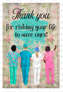 Digital Download Thank You Doctors Nurses JPG file