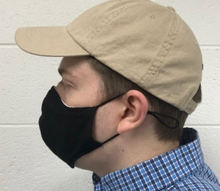 Load image into Gallery viewer, Black Cotton Reusable Double Layer Face Mask w/Filter Pocket *Non-Medical*