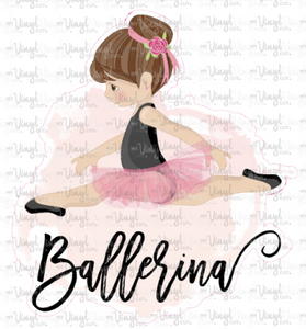 Sticker I10 Ballerina Girl Pink Background