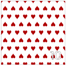 "Load image into Gallery viewer, Printed Adhesive Vinyl QUEEN OF HEARTS Patterned Vinyl 12 x 12"" sheet"