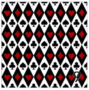 "Printed Adhesive Vinyl QUEEN OF HEARTS Patterned Vinyl 12 x 12"" sheet"