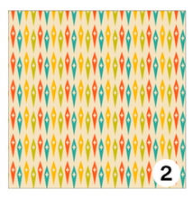 Load image into Gallery viewer, Printed Adhesive Vinyl MID CENTURY RETRO Patterns 12 x 12 inch sheet