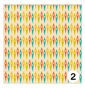 Printed Adhesive Vinyl MID CENTURY RETRO Patterns 12 x 12 inch sheet