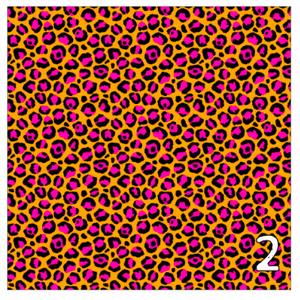 Printed Heat Transfer Vinyl HTV NEON SAFARI 12 x 12 inch sheet