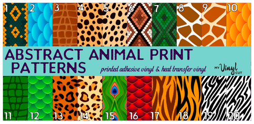 Printed Adhesive Vinyl ABSTRACT ANIMAL Print