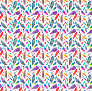 "Printed HTV FEATHERS Patterned Heat Transfer Vinyl 12 x 12"" sheet"