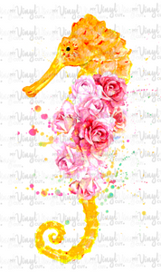 Waterslide Decal Pink & Orange Seahorse