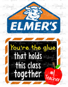 Digital Download Elmer's Glue Teacher SVG and  PNG files