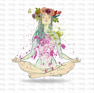 Waterslide Decal Yoga Pose Zen Lotus