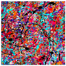 "Load image into Gallery viewer, Printed Adhesive Vinyl PAINT SPLATTER Patterned Vinyl 12 x 12"" sheet"
