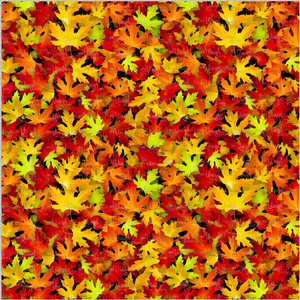 Printed Adhesive Vinyl AUTUMN LEAVES Pattern 12 x 12 inch sheet