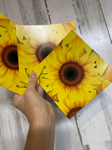 Printed Adhesive Vinyl SUNFLOWER 7 X 7 Inch Sheet