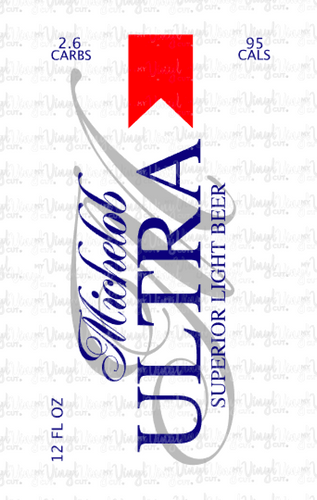 Digital Download Michelob Ultra Beer Label JPG PNG SVG DXF files