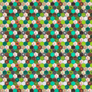 Printed Adhesive Vinyl Dark Hexagonal Quilt Pattern 12 x 12 inch sheet