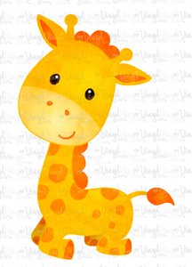 Waterslide Decal Cute Kneeling Giraffe