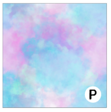Load image into Gallery viewer, Printed Vinyl & HTV Cotton Candy Patterns 12 x 12 inch sheet
