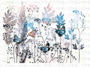 Waterslide Decal Wild Flowers and Butterflies Wrap
