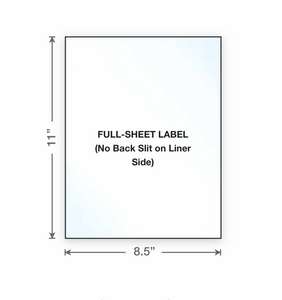 Blank Sticker Sheets for your home desktop printer INKJET or LASER