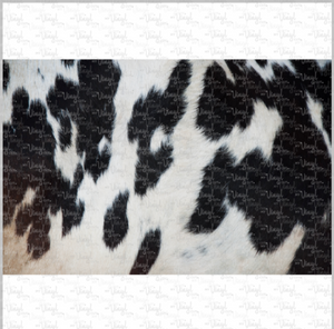 Printed Vinyl & HTV BLACK AND WHITE COWHIDE