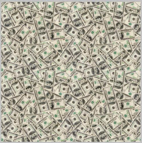 Printed Vinyl & HTV Hundred Dollar Bills Cash Money